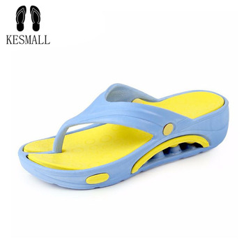 91d4f176b987 KESMALL Casual Beach Women Slipper Sandals Brand New design Summer Home Massage  Flat Flip-Flops Shoes for Female plus Big Size