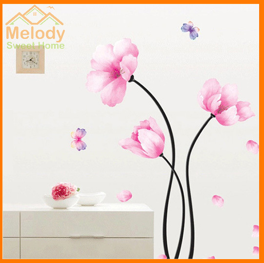 Pink flower wall stickers living room bedroom tv background hangings pink flower wall stickers living room bedroom tv background hangings diy decals wallpaper sticker decoration whd011 mightylinksfo