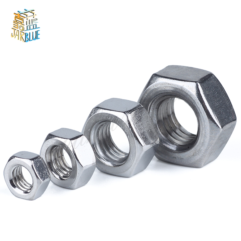5Pcs 304 Stainless Steel US Standard American Form Hex Nut UNC Hexagon Nuts <font><b>1</b></font>/2 <font><b>1</b></font>/4 3/4 3/8 5/16 5/8 7/16 4# 6# 8# <font><b>10</b></font># <font><b>12</b></font># image