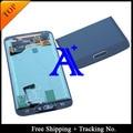 Envío libre 100% probado original para samsung galaxy s5 g900 g900f lcd digitalizador asamblea casera del botón + sticker