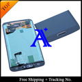 Free Shipping + 100% tested Original  For Samsung Galaxy S5 G900 G900F LCD Digitizer Assembly home button +Sticker