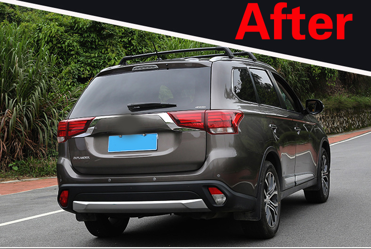 Image 2 - For Mitsubishi Outlander 2016 2017 2018 Rear Light Strips ABS Chrome External Taillight Decoration Cover Trim Car styling  C363-in Chromium Styling from Automobiles & Motorcycles
