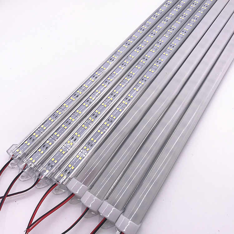 10 unids/pack Barra de luz Led 2835 rígida barra Led luces Blanco/blanco cálido 50CM