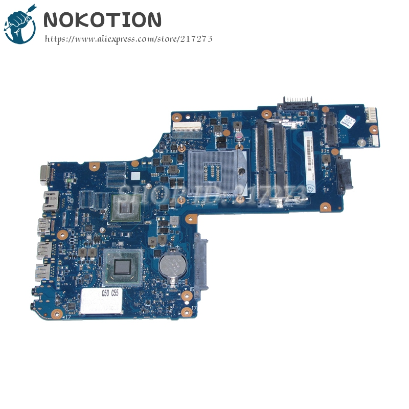 NOKOTION Laptop Motherboard For Toshiba satellite C50 C55 Main Board H000062020 GT710M Video card DDR3