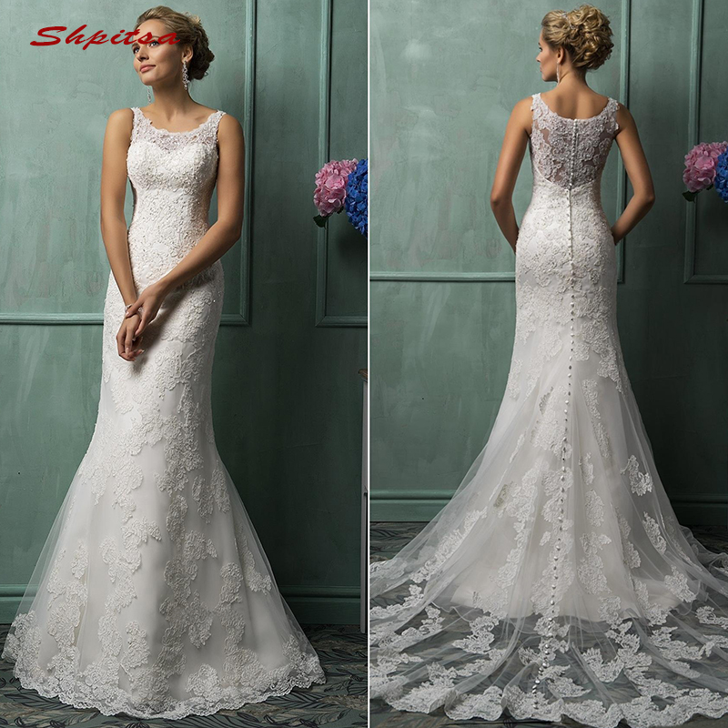 Vintage Lace Mermaid Wedding Dresses Tulle Turkey Plus Size Bride Bridal Weding Weeding Dresses Wedding Gowns