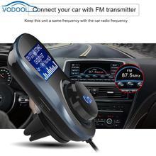 VODOOL 1.4in Screen12V Car FM Transmitter Auto Air Vent Bluetooth Handsfree Kit Multi-language Vehicle MP3 WMA Player