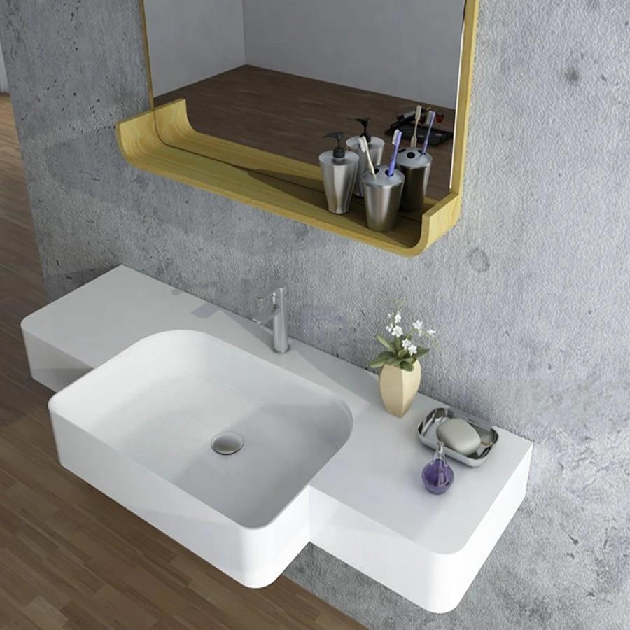bathroom rectangular solid surface stone wall hung wash basin wall mounted wash sink rs38189 1250
