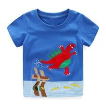Littlemandy Boys T Shirt Baby Tee Tops Футболка Летняя одежда 18new Dinosaur Animal Kids Футболки Одежда Дети с коротким рукавом