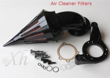 Kit de filtro de admisión purificador de aire tipo pincho negro para motocicleta Harley CV Carb Delphi v-twin Moto