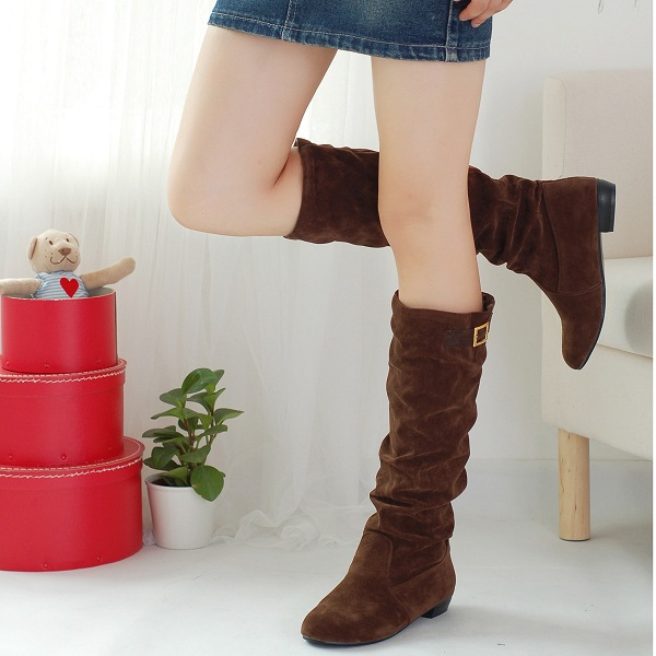 women boots 2017 Autumn winter Boots Woman Heel fashion Women RainFemale women rain Thigh High Botas Mujer