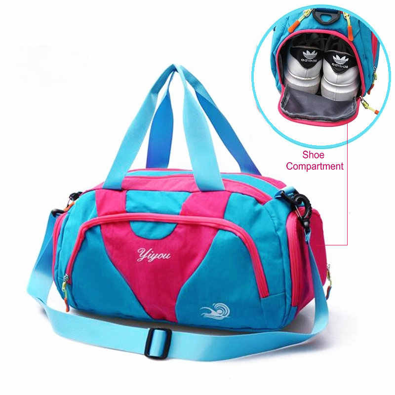3012edc58605 Detail Feedback Questions about Waterproof Swimming Pool Bag With Shoe  Compartment Outdoor Travel Sport Bags Men Lightweight Women Gym Yoga  Handbag Luggage ...