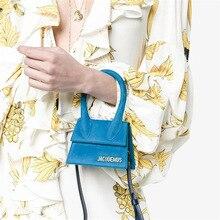 Маленькая сумка-тоут с большой ручкой дизайнерская сумка на плечо квадратная Женская сумка через плечо женский съемный плечевой ремень клатч