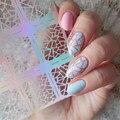 12 Tips/Hoja Irregular Patrón de Triángulo de Uñas Manicura Del Arte Del Clavo de La Plantilla Pegatinas Vinilos JV206 #23528