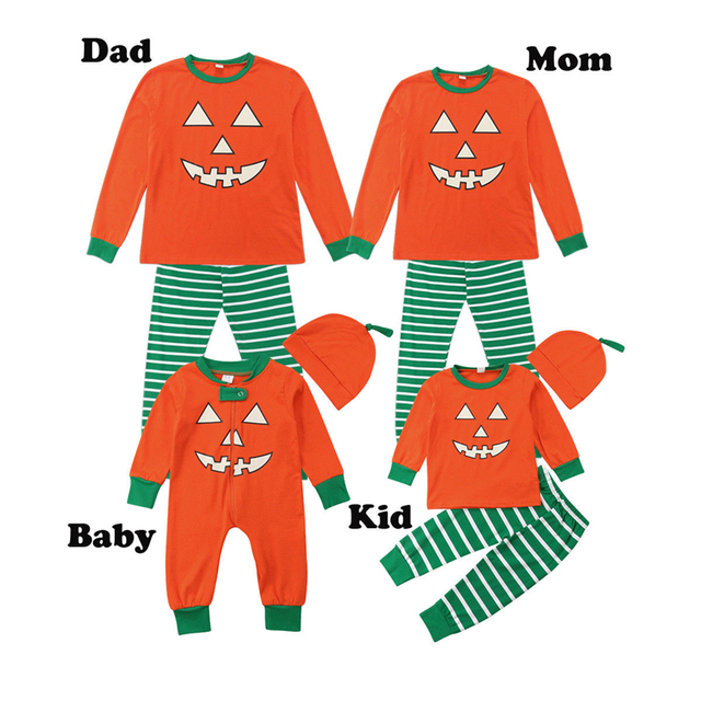 Mom And Baby Boy Matching Halloween Costumes.Us 6 61 Halloween Costumes Family Matching Pajamas Set Women Kids Baby Boy Sleepwear Nightwear Family Clothes Mother Father Son Clothes In Matching