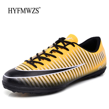 HYFMWZS Men Lace Up Soccer Shoes Superfly Antiskid Football