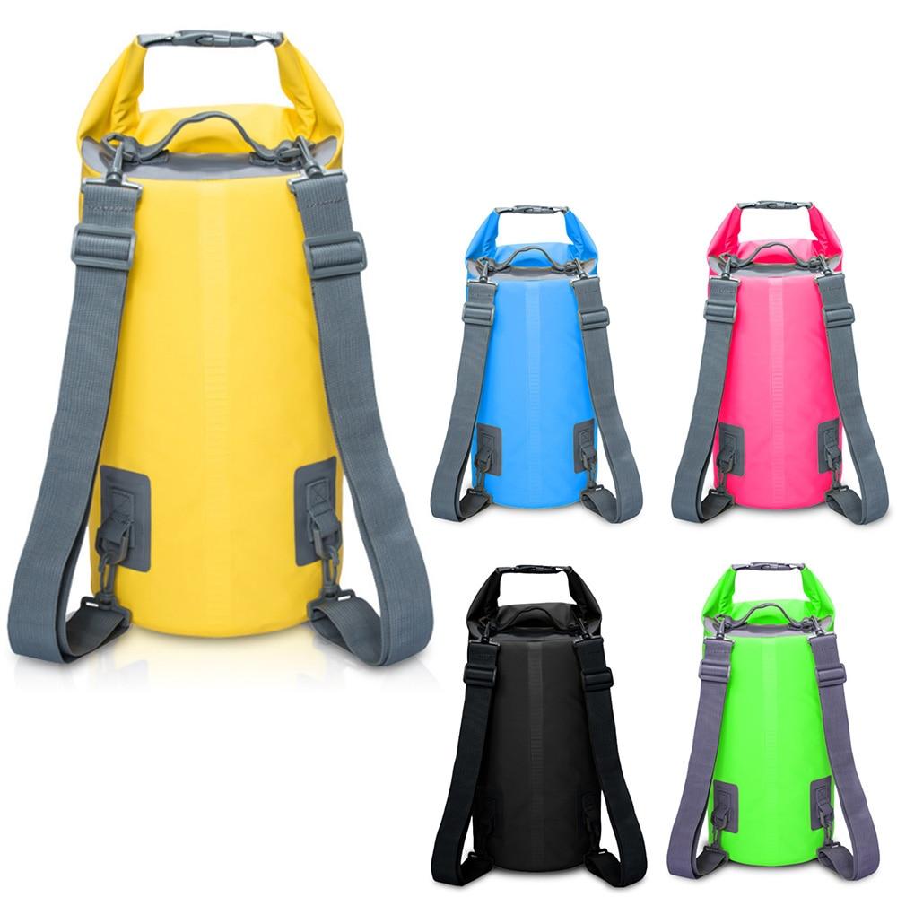 5L/10L/15L/20L Waterproof Bags Storage Dry Sack Bag For Canoe Kayak Rafting Outdoor Sport Swimming Bags Travel Kit Backpack