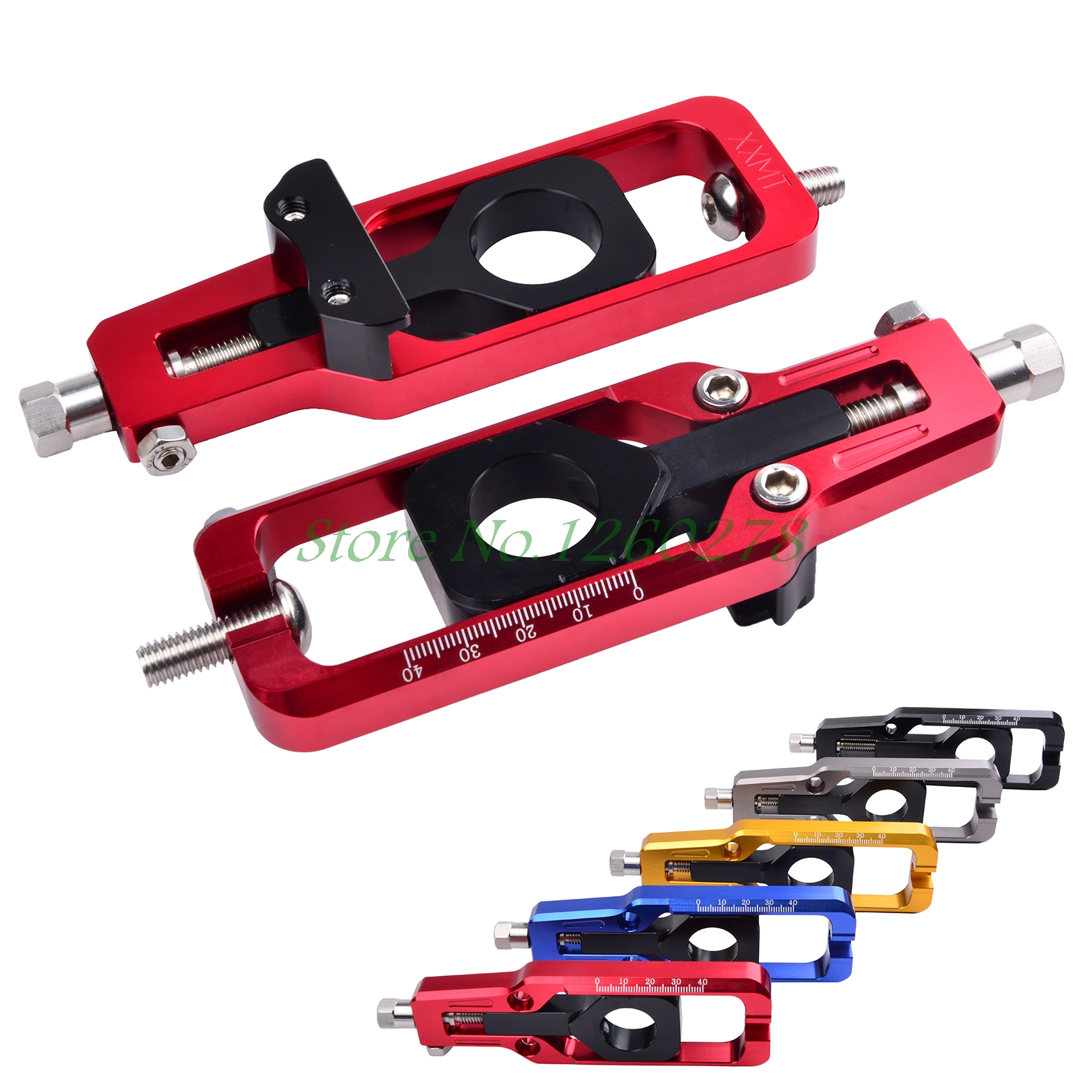 цена на Motorcycle CNC Rear Axle Spindle Chain Adjuster Block Tensioners For Honda CBR1000RR CBR600RR ABS 2008-2016 CBR 600RR 1000RR