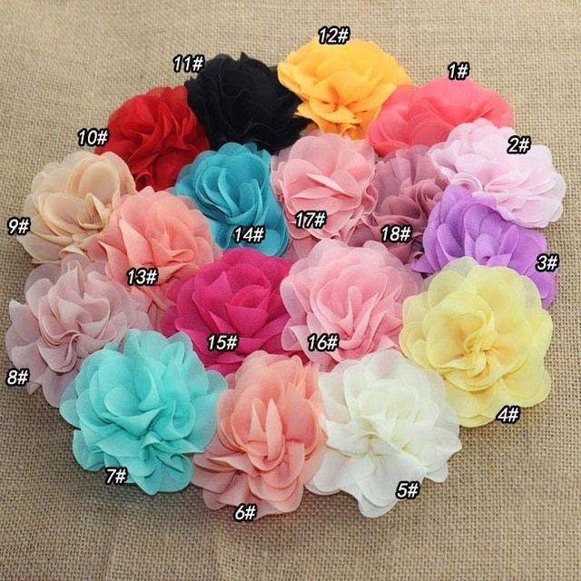 Wedding Decoration Accessories 3D Chiffon Flower Lace Fabric DIY Clothes  Material Hair Accessories Decoration