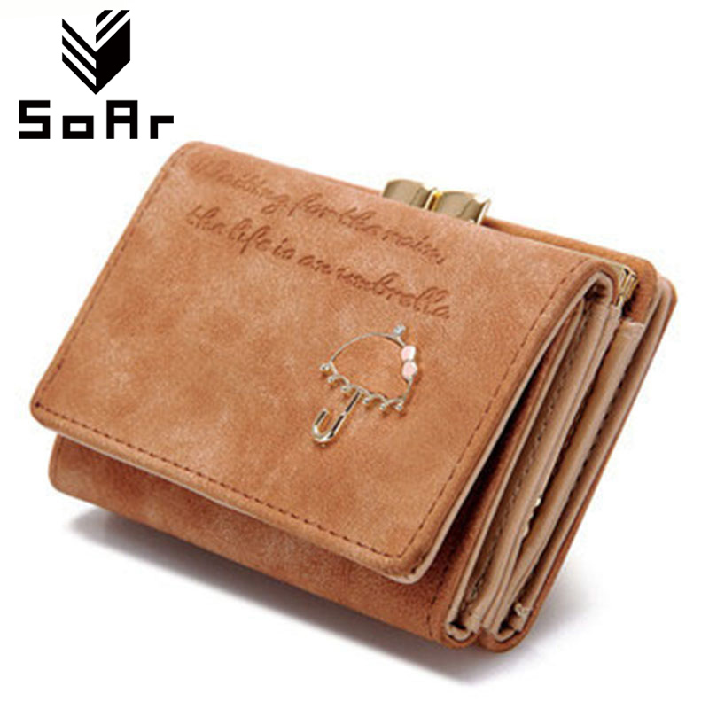 SoAr Fashion Wallet Women Luxury Brand Leather Coin Purse Women Card Holder Short Small Clutch Bag Cute Women Wallets And Purses