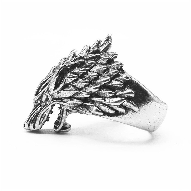 """Ice Wolf House Stark Of Winterfell"" Ring  3"