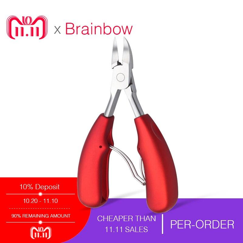 Brainbow Professionelle Nail Scissor Paronychie Häutchen Schere Sharp Gebogene Nail Clipper Nipper Maniküre Pediküre Nagel Pflege Werkzeug