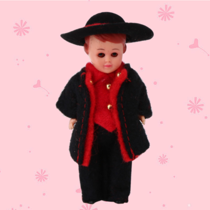 Cute Kids Toy Ethnic Baby Dolls Gift 3inch France Man Clothes Mini Ethnic Dolls Rebron International Fashion Doll for Girls/Boys