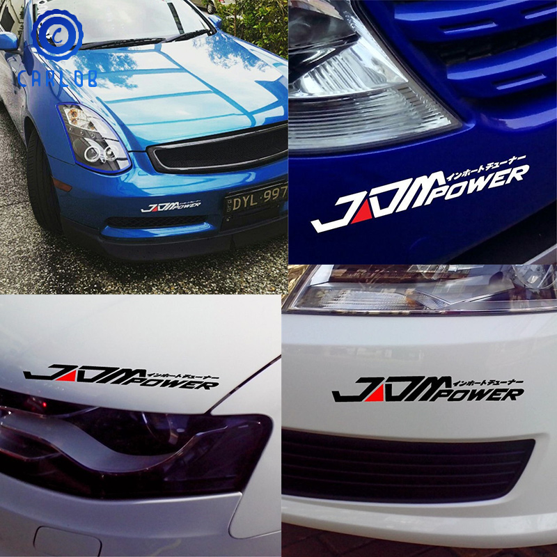 JDM POWER Car Truck Bumper Sticker Decal For Toyota Honda Volkswagen Mitsubishi