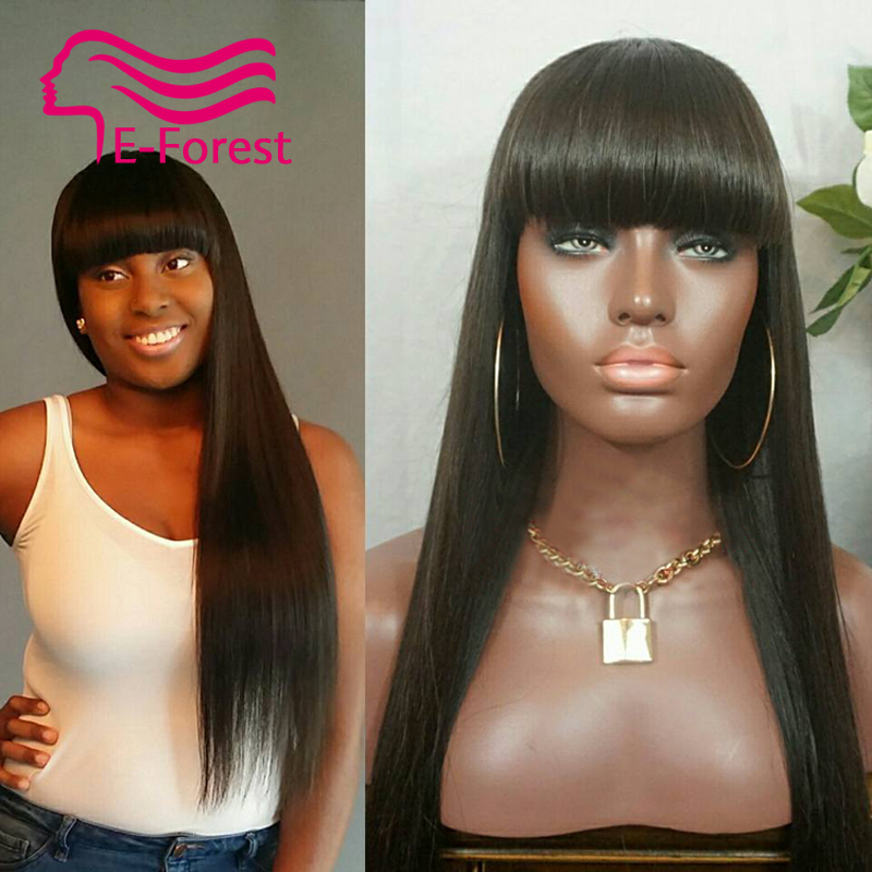 Unprocessed Brazilian virgin full lace front lace human hair wigs glueless straight with Natural baby hair