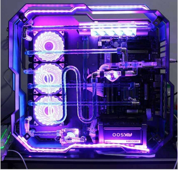 MOD Full Aluminum Alloy Double Tempered Glass Water Cooling Case