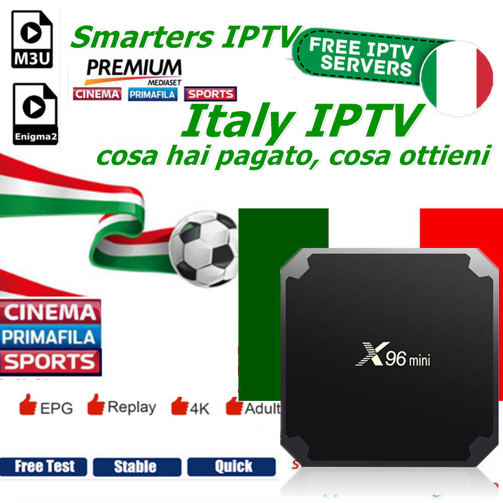Smarters IPTV Italy support 660+ Italian Channels with Mediaset Premium  DAZN sport and free VOD movies Best Italian IPTV X96MINI