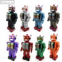 Classic Robot Tin Wind Up Clockwork Toys Electric Robot Wind up Tin Toy For Children Adults Educational Collection Gifts
