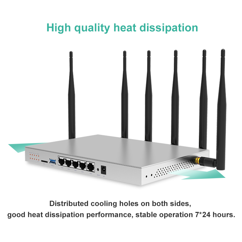 802.11AC 3g 4g SIM Card Router Industrial 5G Dual Band Gigabit OpenWrt Router WiFi Built In Mini PCI E Slot SATA 3.0 1200Mbps