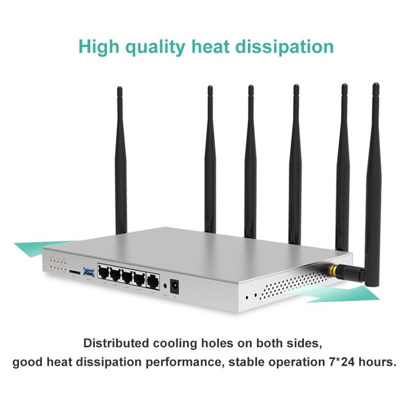 Routeur de carte SIM 802.11AC 3g 4g routeur industriel 5G double bande Gigabit OpenWrt routeur WiFi intégré Mini emplacement PCI-E SATA 3.0 1200 Mbps