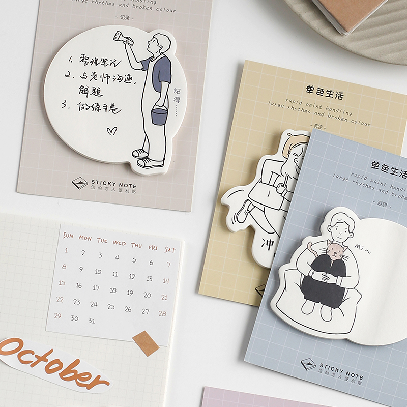 Simple Life Student Leave A Message Memo Pad Planner Sticky Note Paper Sticker Kawaii Stationery Pepalaria 30 Pages