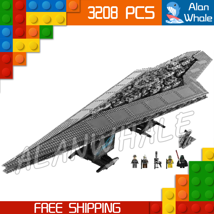 3208pcs New Space Wars Super Star Destroyer 05028 Assemble Figure Building Blocks Big Gifts Toys Compatible With LegoING