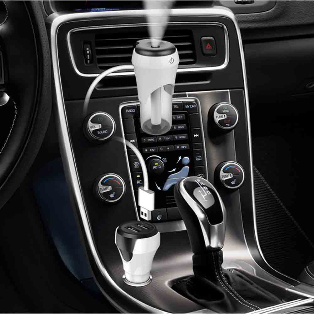 Car Air Purifier BC20 Atomized And Humidified Double USB Vehicular Rechargeable Air Humidifier Car Air Ionizer-in Car Air Humidifier from Automobiles & Motorcycles