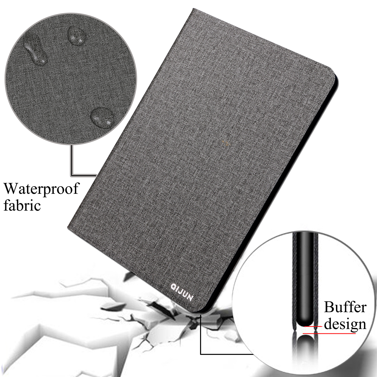 QIJUN tablet flip case for Samsung Galaxy Note 10 1 quot protective Stand Cover Silicone soft shell fundas capa for P600 P601 P605 in Tablets amp e Books Case from Computer amp Office