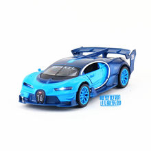 Free Shipping/Diecast Toy Model/1:32 Scale/Bugatti Vision GT Super Car/Pull Back/Sound & Light/Educational Collection/Gift/Kid(China)