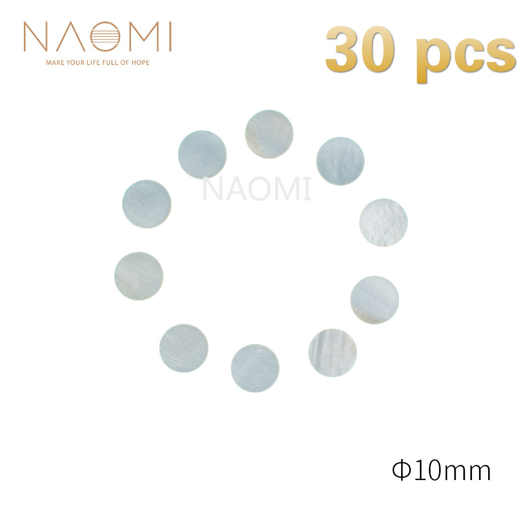 Naomi 30 Pcs Guitar Dots 10mm White Mother Of Pearl Shell Fingerboard Dots For Guitars Ukuleles Banjos Fingerboards # 10mm To Adopt Advanced Technology Sports & Entertainment