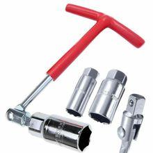 Herramienta de extracción de bujía 16mm 21mm llave Flexible 4 17 T mango T Bar