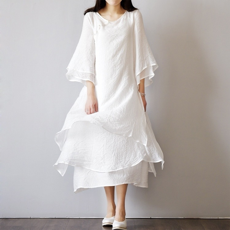 mori girl cotton long dress sarafan pull femme women With robe longue hiver femme