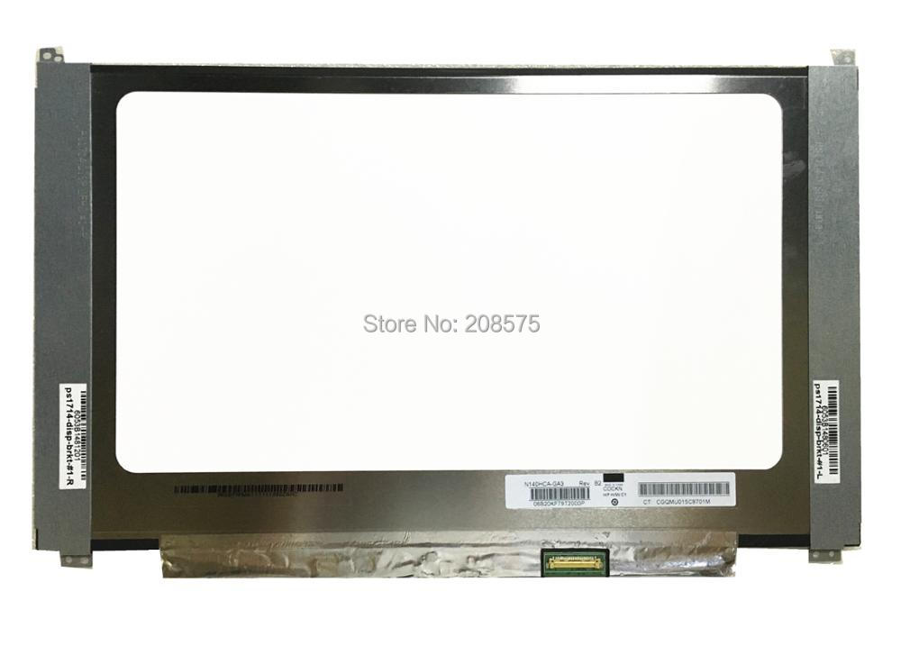 Free shipping N140HCA-GA3 N140HCA GA3 Laptop Lcd LED Screen Display Matrix for Laptop 14.0