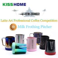 Stainless Steel Milk Frothing Pitcher Espresso Coffee Barista Craft Latte Art Professional Coffee Competition Milk Cream Mug