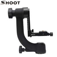 360 Degree Panoramic Gimbal Tripod Head With Arca Swiss Standard 1 4 Quick Release Plate Bubble