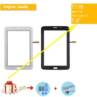 For Samsung Galaxy Tab 3 Lite 7.0 SM-T116 T116 Touch Screen Digitizer Front Glass Panel Sensor Touchscreen NO LCD Display