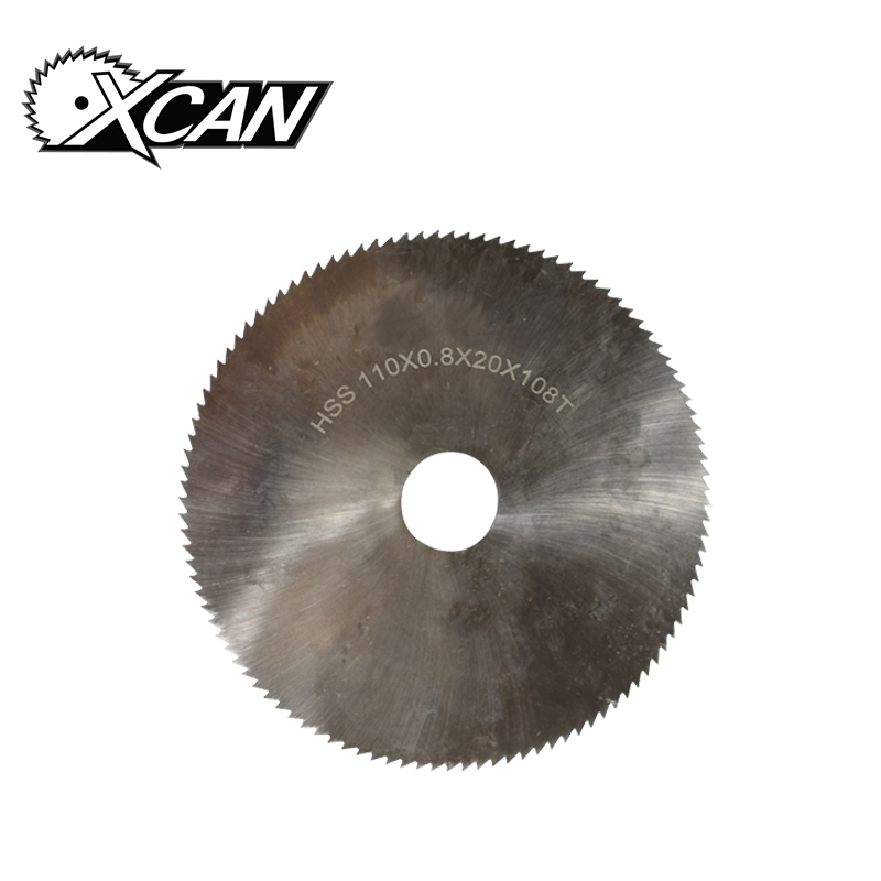 XCAN 1pc 110x0.8x20mm 108T HSS steel circular saw blade wood metal cutter HSS Slitting saw blade General purpose saw blade china manufacturing circle cutter blade for cutting rubber circular slitting machine blades