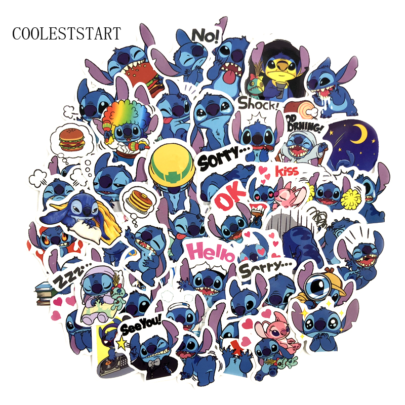 50 Pcs/Set Cartoon Cute Lovely Stitch Stickers For Scrapbooking Creative Luggage Laptop Phone Notebook Pegatinas Sticker