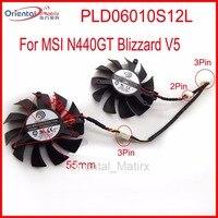 Free Shipping 2pcs Lot POWER LOGIC PLD06010S12L 55mm 12V 0 20A 3Pin For MSI N440GT Blizzard