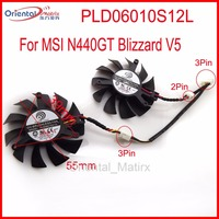Free Shipping 2pcs Lot POWER LOGIC PLD06010S12L 55mm 12V 0 20A 3Pin For MSI N440GT Blizzard