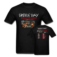 Punk Rock Green Day T Shirt Man Women Green Day Revolution Radio 2017 Concert Tour Two